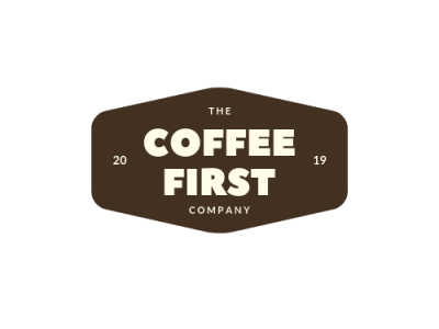 Coffee First logo web typography illustration branding illustrator logo design