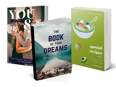 Book Cover Design and Presentation vector books book cover typography illustrator illustration design