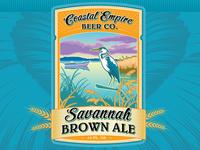 Savannah Brown Ale Label