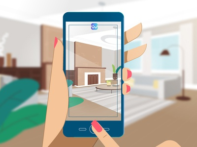 Taking pics mobile technology illustration characters explainer video animation