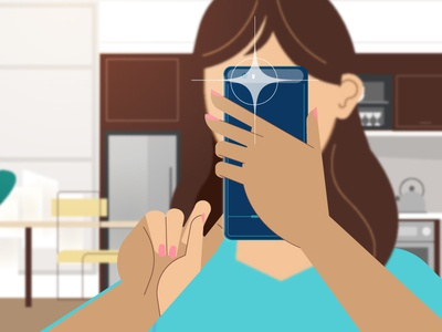 Taking Pics - reverse mobile technology illustration characters explainer explainer video animation