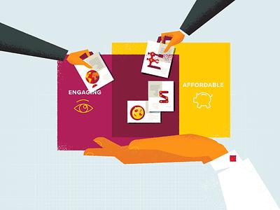 Service idea education illustration characters explainer video
