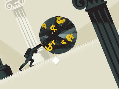 Boulder Idea 01 money education illustration characters explainer video animation