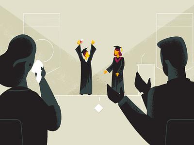 Grad Parents graduation education illustration characters explainer video