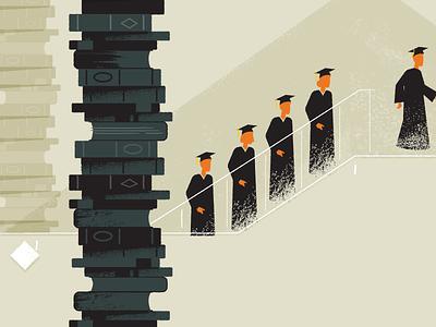 Graduates Idea 1 students graduation education illustration characters explainer video
