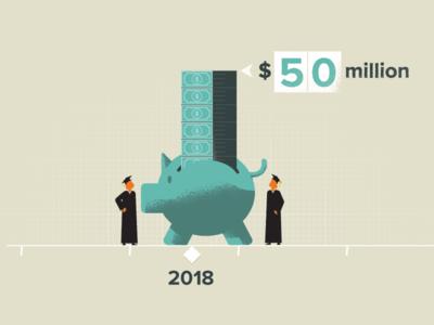 Graph Idea 1 graph money education illustration characters explainer video