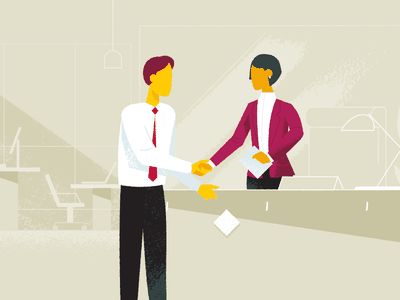Interview illustration characters explainer video education
