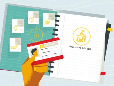 Inclusive Access book student illustration explainer video education