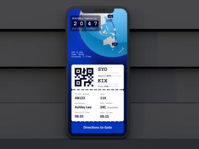 Daily UI::024 Boarding Pass