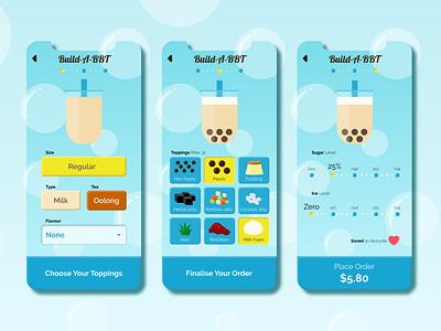 Daily UI033::Customise Product bbt bubbletea uxuidesign uxui uidesign ui dailyuichallenge dailyui033 dailyui customiseproduct customise
