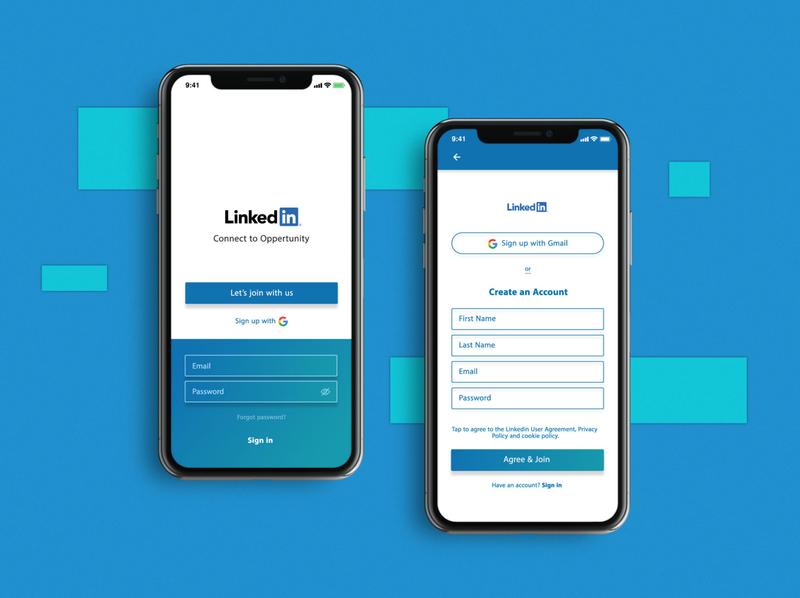 001_ LinkedIn Sign Up/In uichallenge ui design dailyui