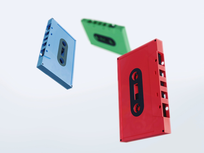Cassettes retro cassettes 3d blender