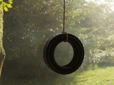 Tire Swing vfx swing tire 3d eevee blender