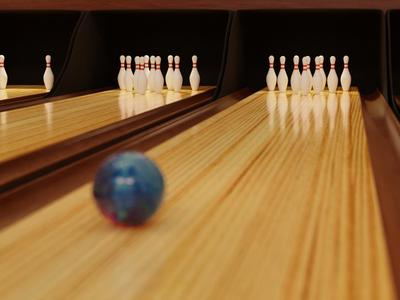 Bowling Alley cgi vfx lighting bowling render 3d blender