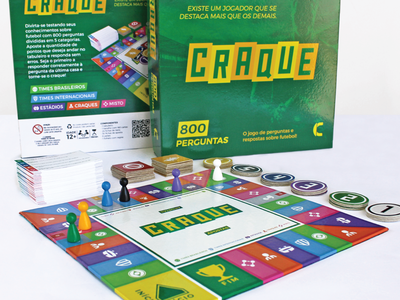 Craque boardgame token quiz icon iconset icons player stadium team card packaging boardgame board game board game design game soccer