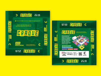 Craque boardgame boardgame board game board player stadium team quiz soccer packaging design package packaging game art game design game