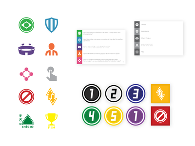 Craque boardgame board game board quiz token cards card champion player stadium shield team ball game design soccer branding brand brand identity iconography iconset icons