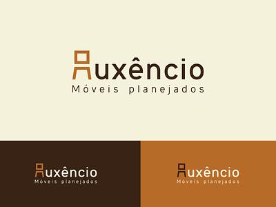 Auxêncio logo furniture chair wood branding brand identity logotype logo