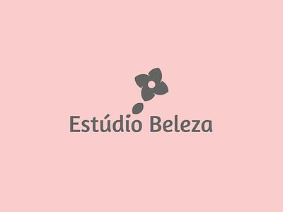 Estúdio Beleza logo woman studio skin nail hair flower dream cleam logodesign logotype logo branding brand beatiful beauty