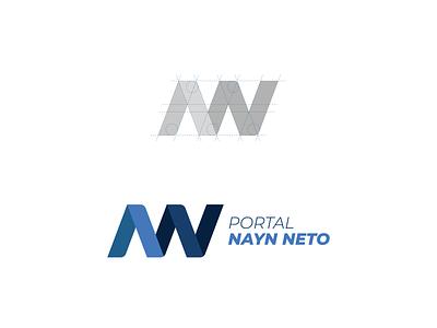 Nayn Neto visual identity news journalist blogger branding brand logo