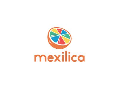 Mexilica children store clothing tangerine brand branding brand identity logodesign logotype logo