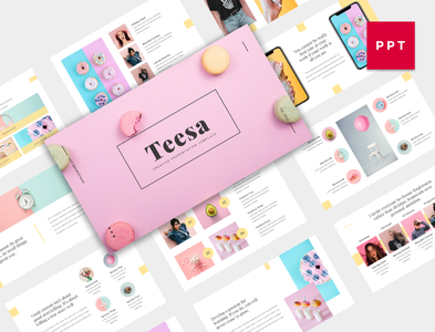 Teesa - Creative Presentation Template layers layoutdesign modern clean soft pitchdeck powerpoint keynote template annual presentation magazine marketing abstract design cover business background layout design layout