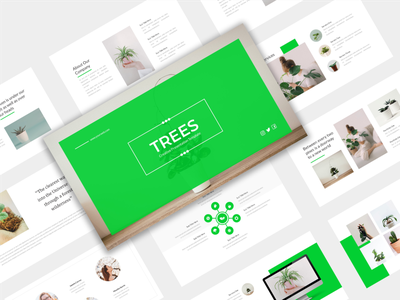 Trees - Nature Presentation Template inspiration green googleslides keynote powerpoint creative tree template presentation marketing abstract layout design cover business background
