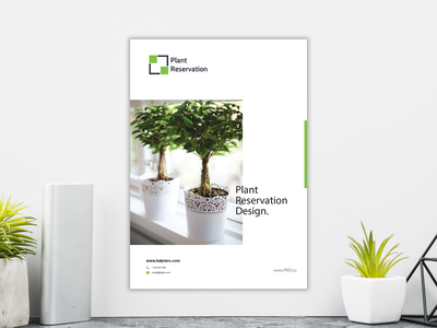 Plant Reservation Flyer Concept catalog marketing creative annual leaflet poster modern report background vector abstract presentation business template cover magazine brochure design layout flyer