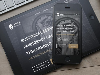 Ares Electrical - final home page