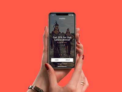 Matio app app design fashion ecommerce