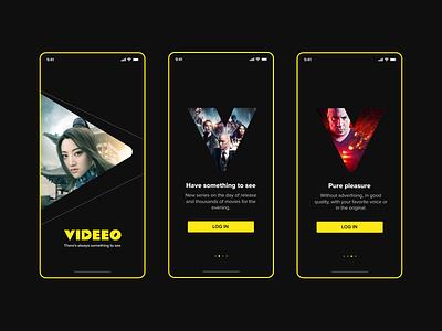 Videeo app onboarding cinema movies app