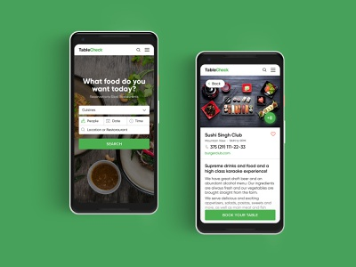 TableCheck app meal food delivery booking app