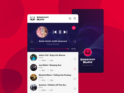Raccoon Music artist sound player music app