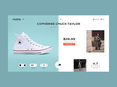 Matio Fashion shop store converse product fashion ecommerce