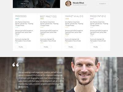 EA portal redesign portal intranet electronic arts ea