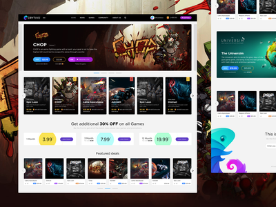 Crytivo catalog platform games gaming redesign