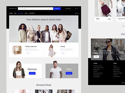Fasales ui web redesign fashion brand clothing fashion e-commerce