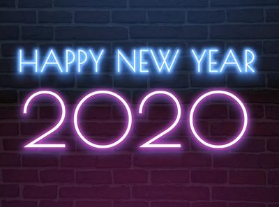 Happy New Year 2020 Neon Light