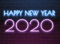Happy New Year 2020 Neon Light