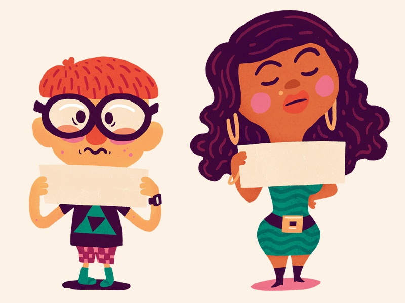 2 Characters illustration childrens book