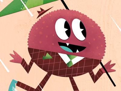 Umbrella umbrella monster illustration