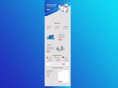 Web Page Template ui  ux