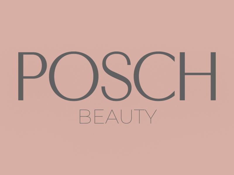 Posch Beauty branding typography logo design