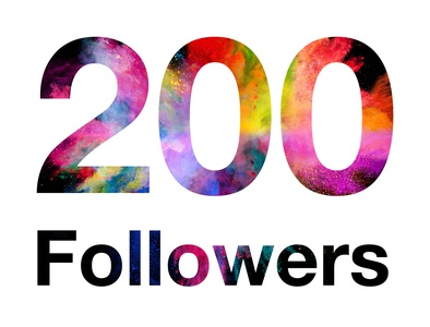 200 followers  On Instagram