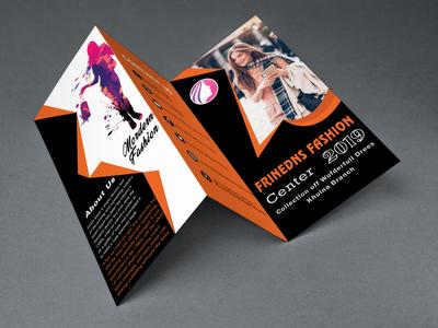 Tri Fold Fachion Orange Brochure