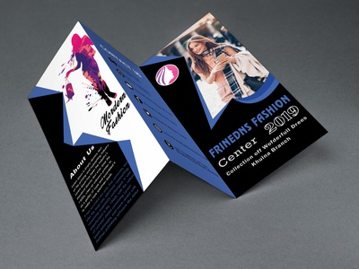 Tri Fold Fachion Blue Brochure