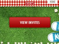 Summer Events screen