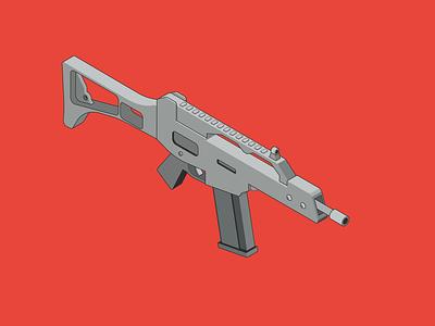 Machine gun flat vector illustration