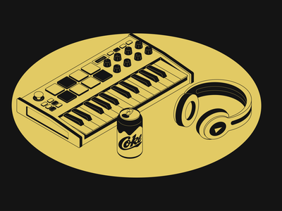 Akai Keyboard vector illustration flat