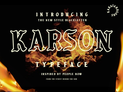 Karson Blackletter fontlab black fontdesign design urban street pablo gothic hype handmade blackletter font